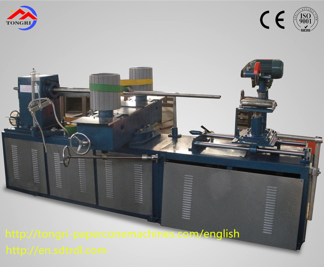 Semi-automatic paper tube production line
