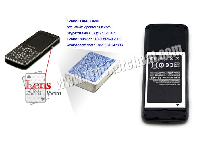 Black Samsung Gambling Accessory A4 Lithium Battery Poker Scanner