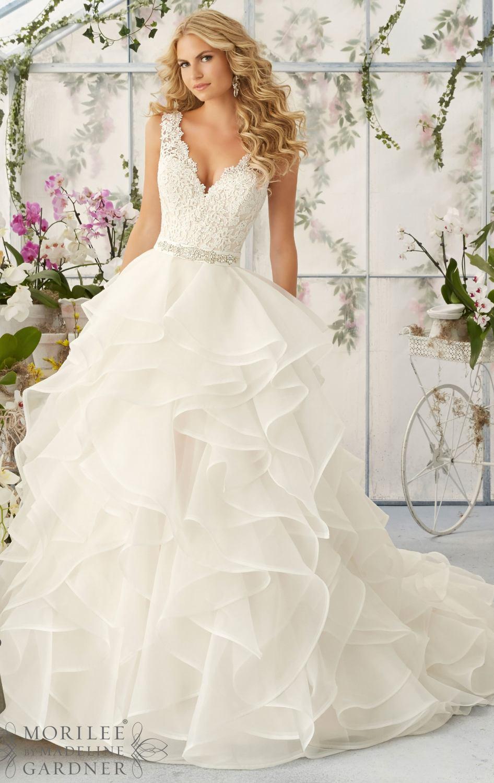 Custom Made High Quality V Neck Handmade Beaded Layers Wedding Bridal Gowns,Princess Wedding Dresses