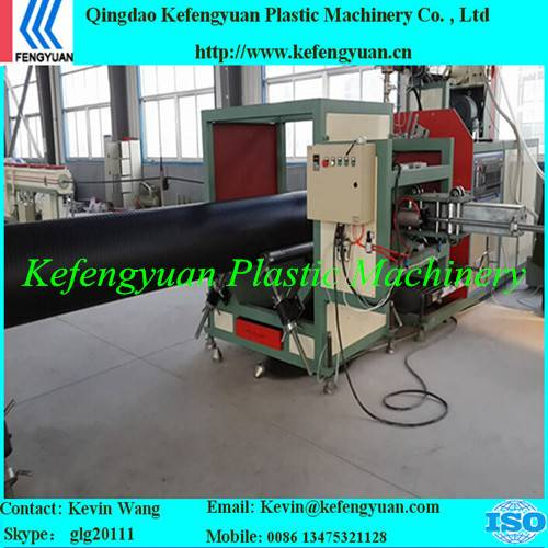 KFY large diameter hollow wall winding pe hdpe pipe tube extrusion machine