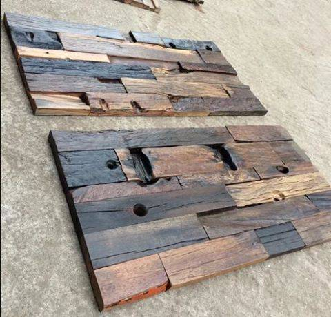 wholesale unique outdoor boat wood mosaic tiles