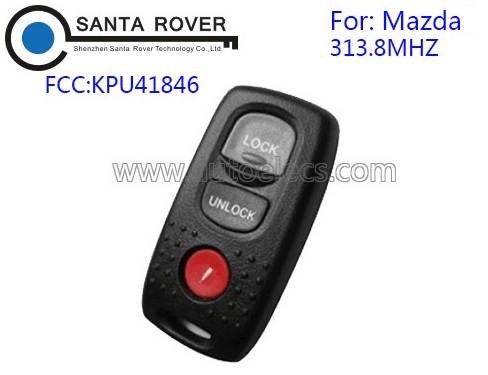 For Mazda KPU41846 3 Button Keyless Entry Remote Key Fob