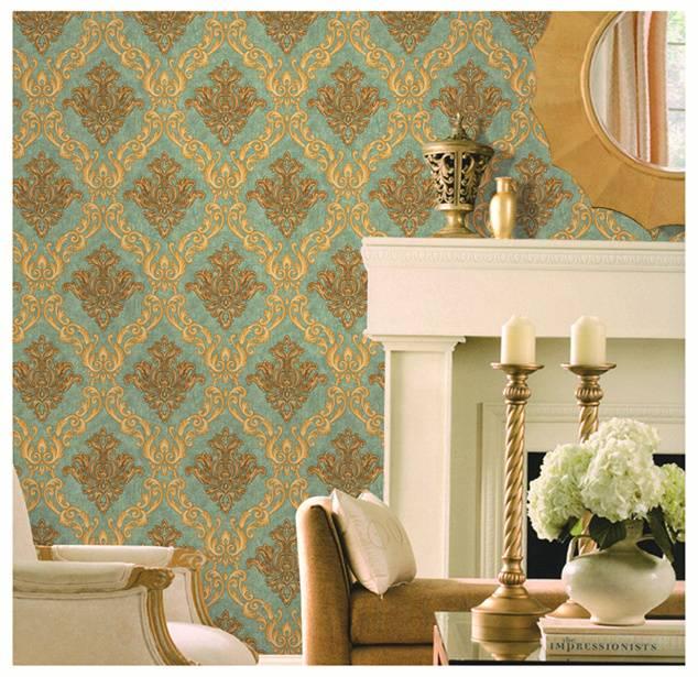 high quality PVC deep embossed wallpaper