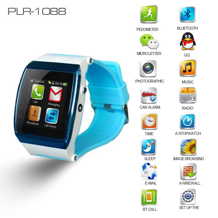 Fashion Mobile Phone Wrist Watch To Answer Phone Call,Text Messages & Camera