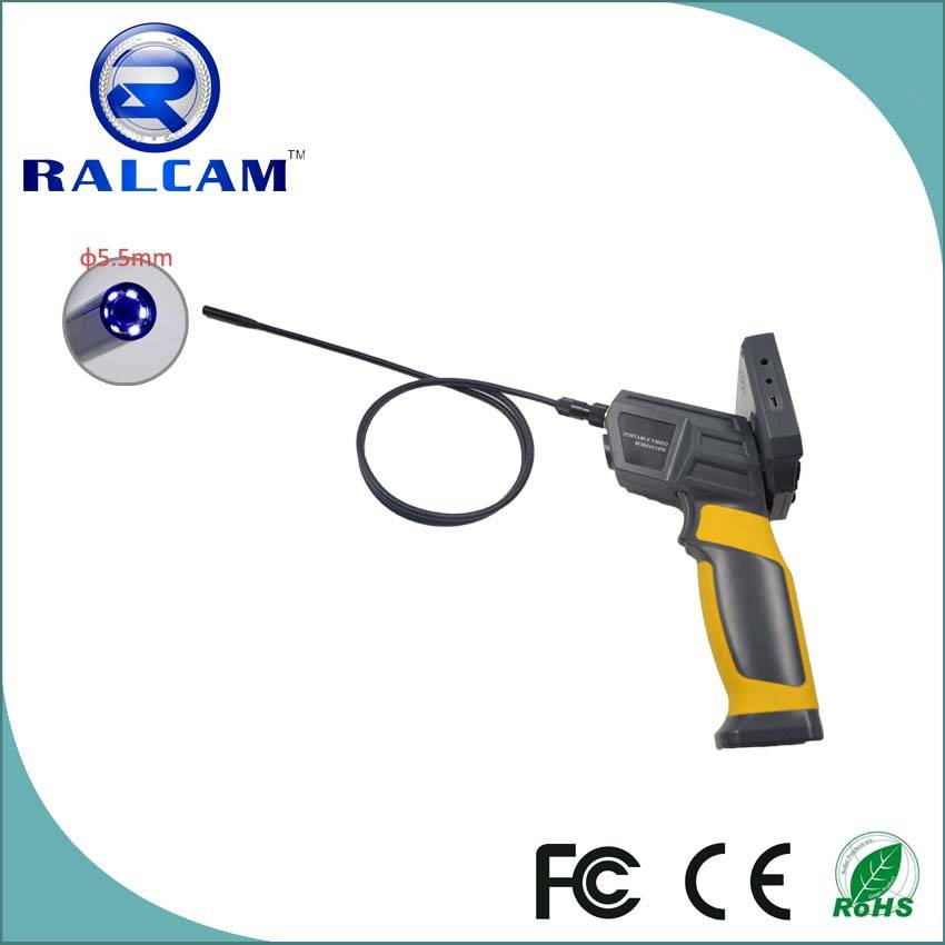 "720P 4*Zoom Image 3.5"" TFT LCD Flexible Tube Industrial Endoscope"