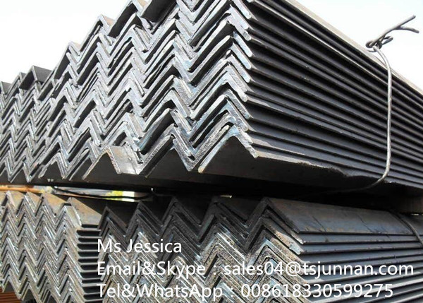 Angel iron/ hot rolled angel steel/ MS angles l profile hot rolled equal or unequal steel angles ste