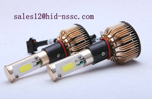factory wholesale 9-16v COB 3000 lumen dual beam led headlamp bulb to replace hid bulb