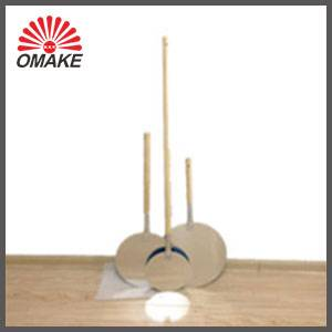 wanted high quality customzied roud shape wooden handle aluminum pizza peels