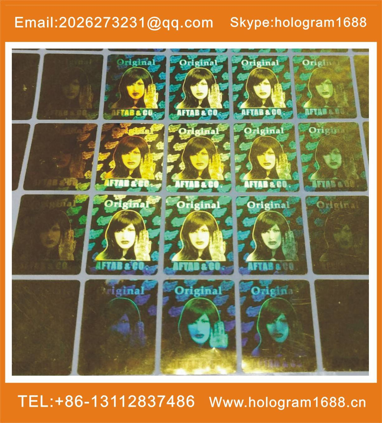 Laser Label Hologram Printer Laser Sticker