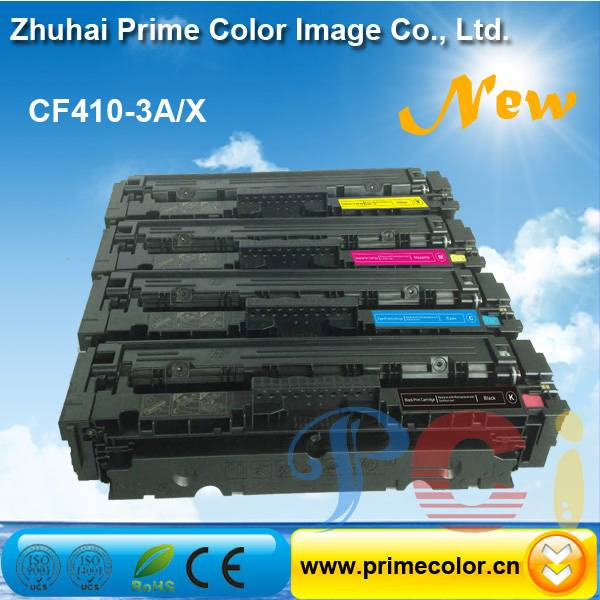 Color Toner Cartridge for HP CF410A CF411A CF412A CF413A with Chip