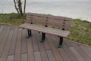 crack-resistant eco-friendly wood composite park patio bench