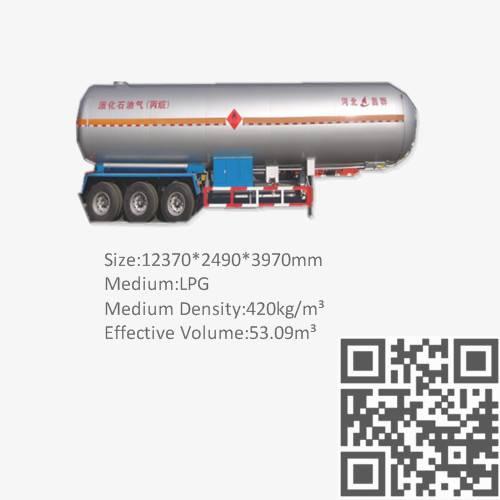 LPG semi trailer