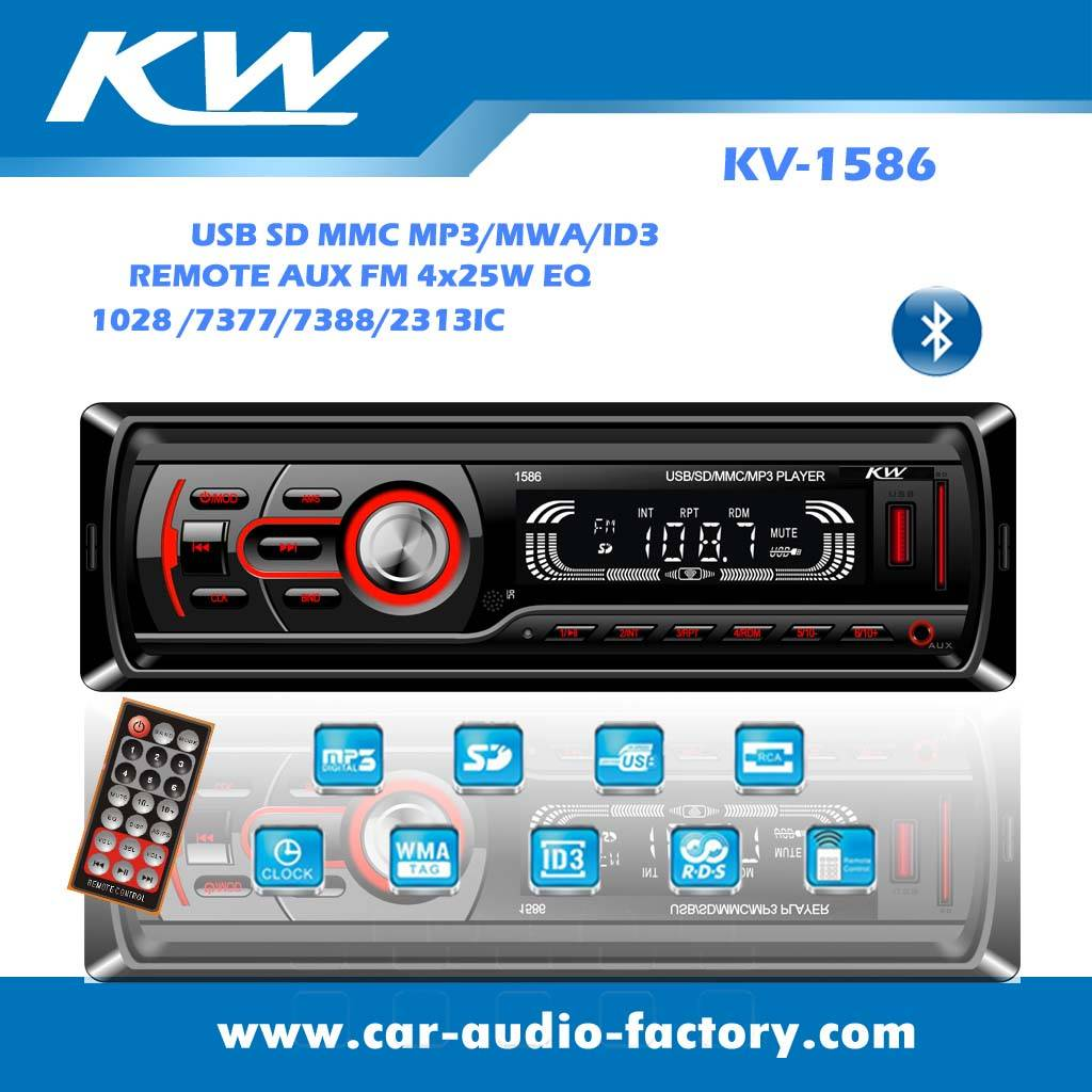 KV1586 Car audio MP3 player with FM/Real-time clock