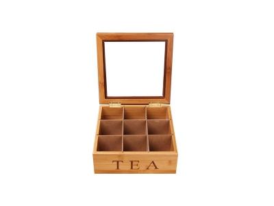 Cherry Wooden Tea Bag Display Box
