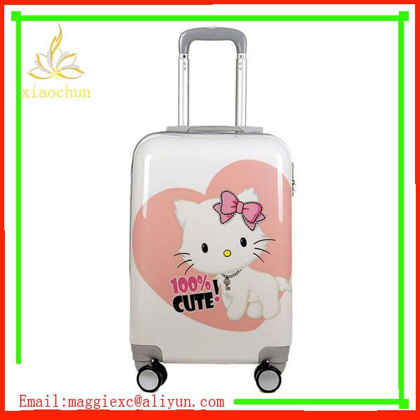 Classic ABS PC Printing Luggage Set 4 Wheel
