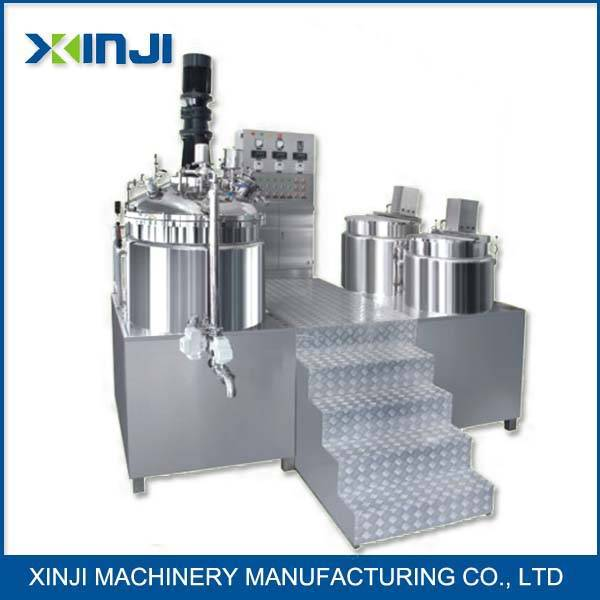 Cosmetic lotion making machine vacuum emulsifier
