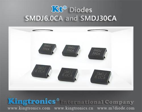 Kt Kingtronics Introduce 3000W Diodes SMDJ6.0CA and SMDJ30CA