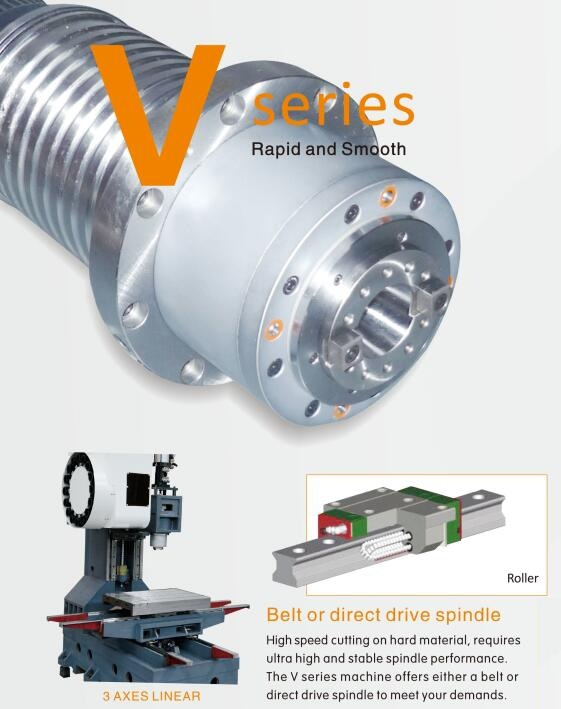 V series vertical machining center and milling machine