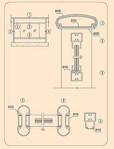 aluminium profile for handrailing