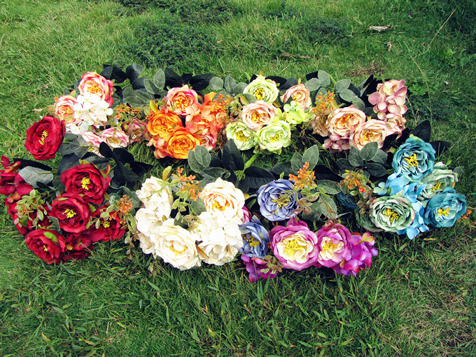 Hot High Quality Silk Fake flower bouquet Multi-use Wedding Party Home Decoration Artificial Flowers