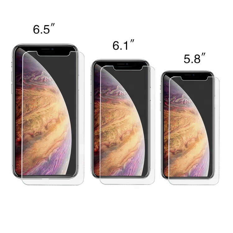 2.5D 9H 0.3MM Clear Tempered Glass Screen Protector for iPhone 2019 5.8 inch 6.1 inch 6.5 inch