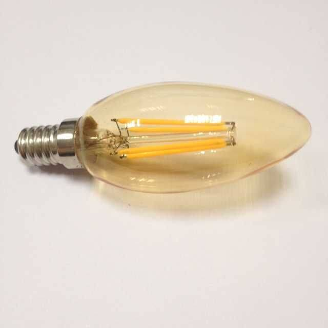 amber gold smoke C35 2W led filament bulb