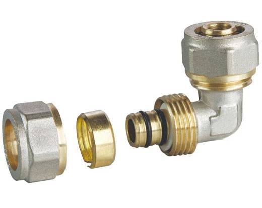 Brass Pipe Fittings in Various Sizes, Nickel-plated Finish