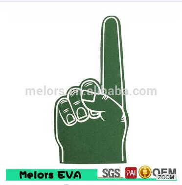 Melors best selling personalized OEM sports fan cheering big foam giant foam hands/eva cheering glov