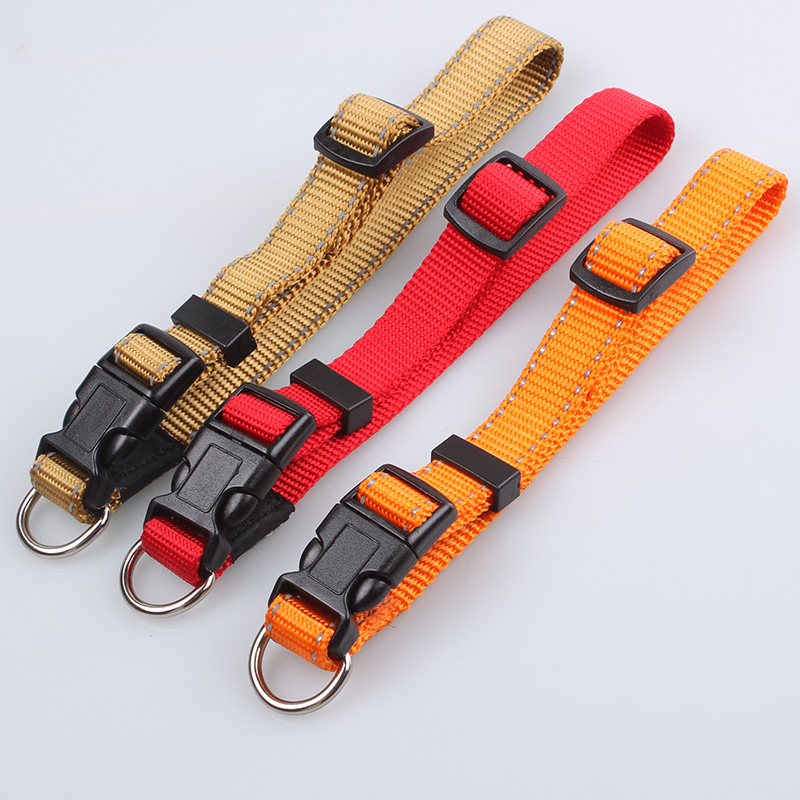 Nylon Dog Collars: Best Sell Solid Color Dog Collars Supply-qqpets