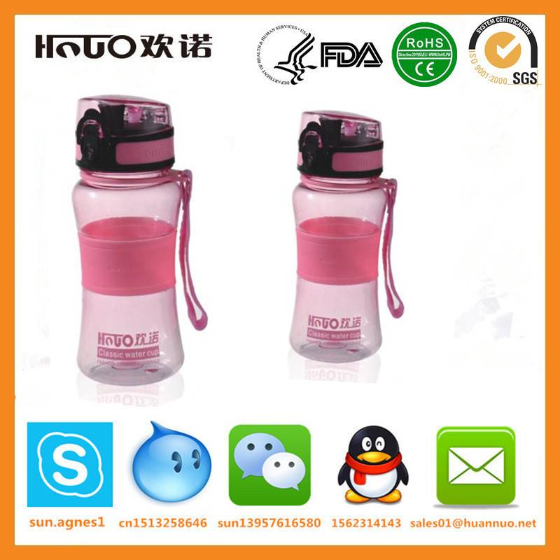 high quality Unique transparent 400ml Outdoor Sports Portable Water Bottle
