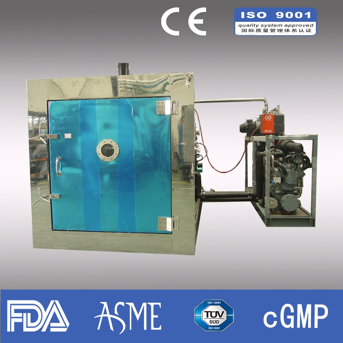 200kg/liter Industrial Freeze dryer/ Pharmaceutical freeze dryer