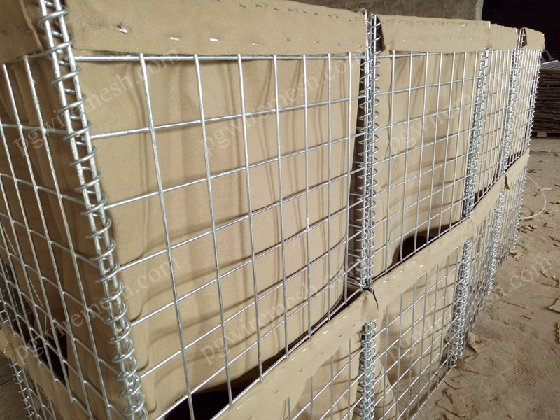 Hesco blast wall in military Hesco bastion barrier Explosion-proof Hesco Bastion wall Galvanized Hes