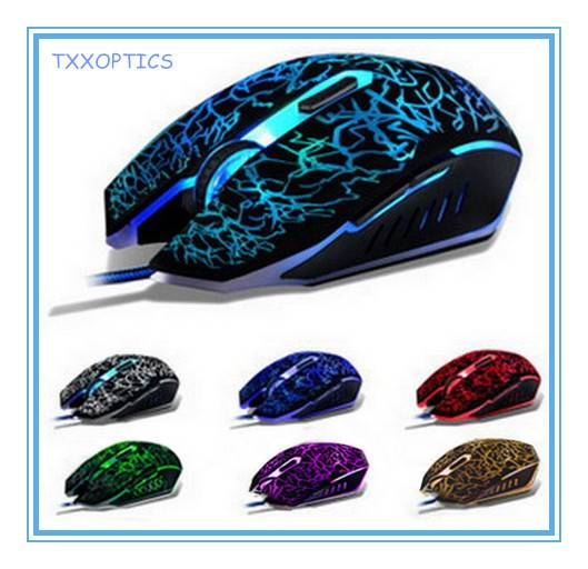 Optical 6d Wired 7 Breathing Lights Gaming Mouse