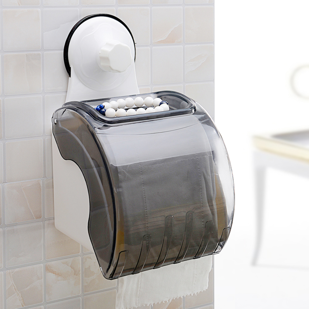 Toilet Paper Roll Holder and Dispenser with Suction Cup
