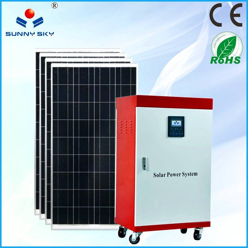 1KW solar power system with mppt solar controller inverter