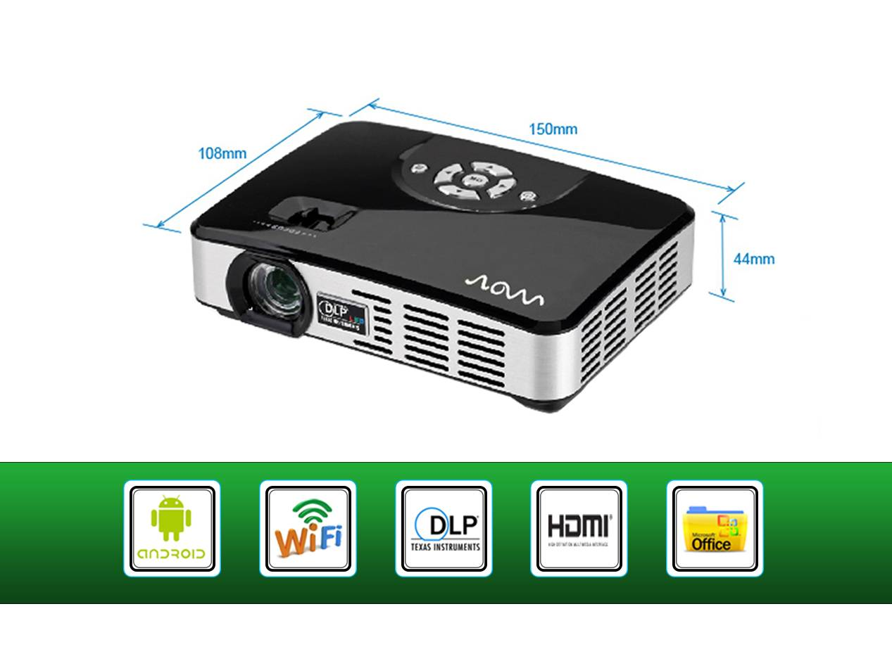 Dual core 1080P HDMI Home Theater Office Portable Mini Pocket HD Led Projector