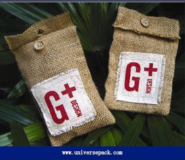 Customized  Jute flap  bag  for wholesale