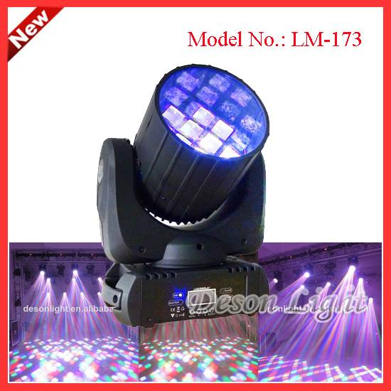 12pcs 10W Quad 4in1 LED Magic Effect Beam Moving Head Light LM-173