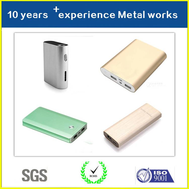 High Quality Factory Directly Supply Metal Power bank shell
