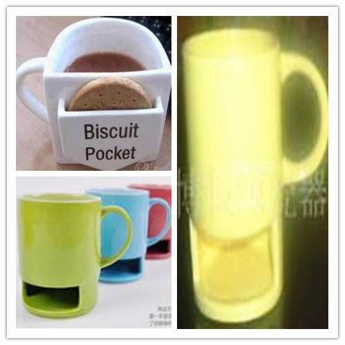 China manufacturerwith cookie holder,cookie ceramic mug  white porcelain mugs wholesale,clore glazed