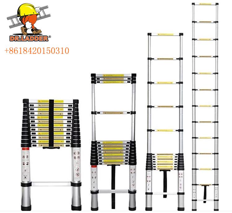 2.0m/2.6m/2.9m/3.2m/3.8m/4.1m/4.4m aluminium telescopic ladder
