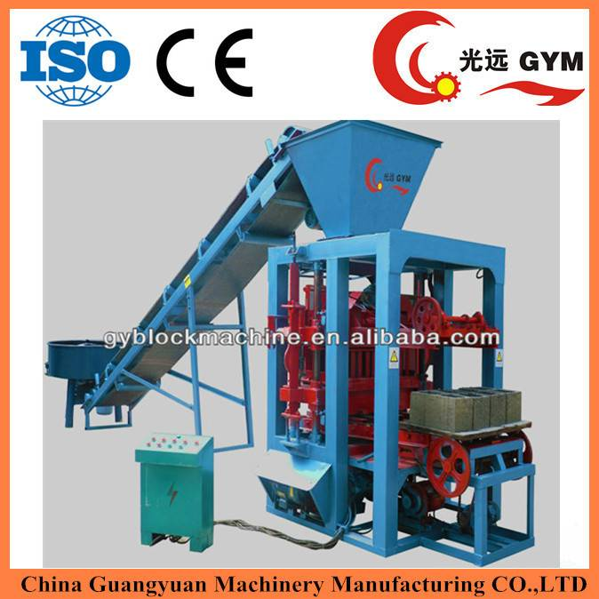 popular product with high profit GYM-QTJ4-26 manual hollow block forming machine