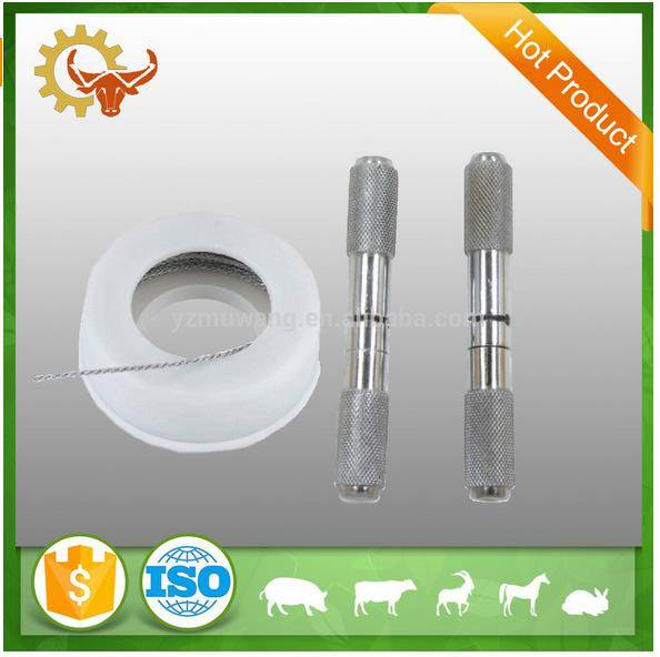2016 made in china poultry farming dehoring wire handles pair