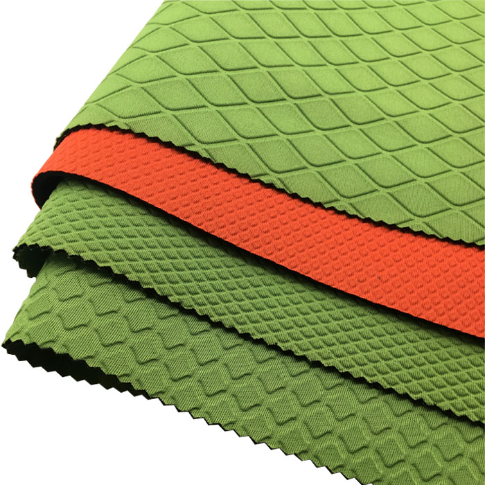 Embossing SBR neoprene rubber polyester fabric 3mm roll for fashion bags