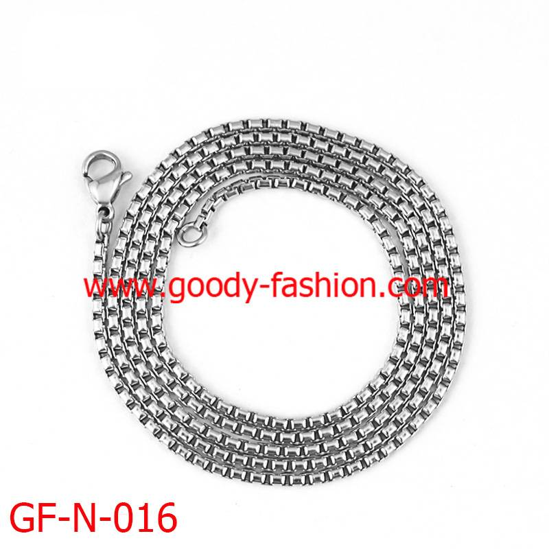 fashion stainless steel box chain necklace