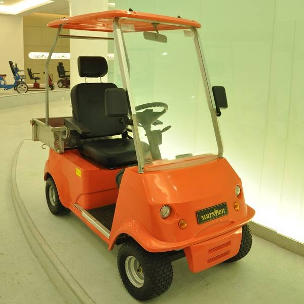 one person golf cart with small cargo box