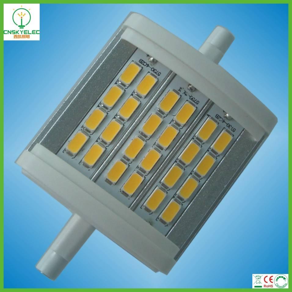 SMD 5630 24PCS LED R7s 8W LED PC and Aluminum R7s Retrofit Floodlight Lamp R7s LED 78mm 10W
