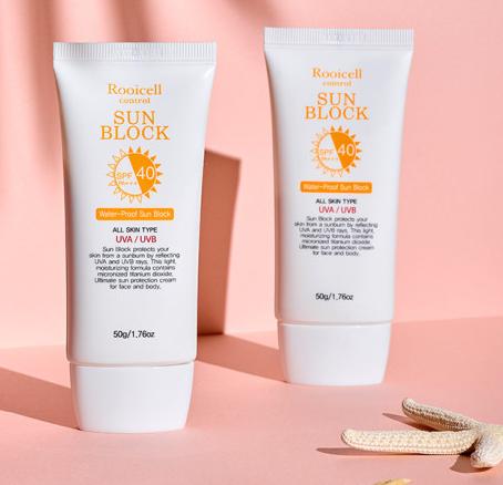 Rooicell water-proof anti UVA UVB long lasting Sun Block SPF PA+++40 50g sunscreen cream