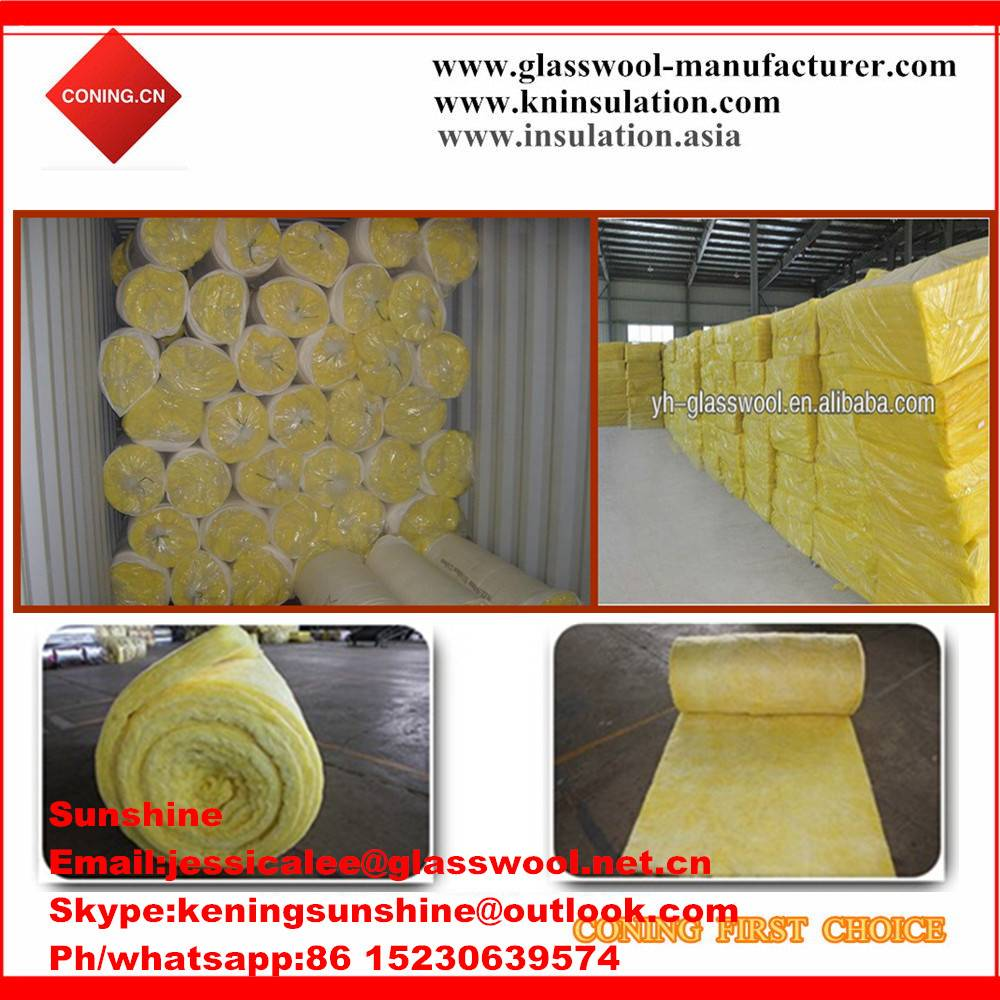 Glass wool blanket/glass wool/heat insulation fiberglass for roof insulation