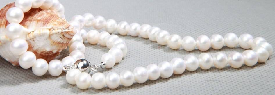 7-8 mm Round pearl necklace
